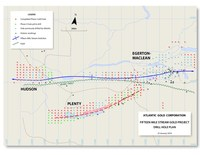 Fifteen Mile Stream and Plenty Drill Plan Map and Sections (CNW Group/Atlantic Gold Corporation)