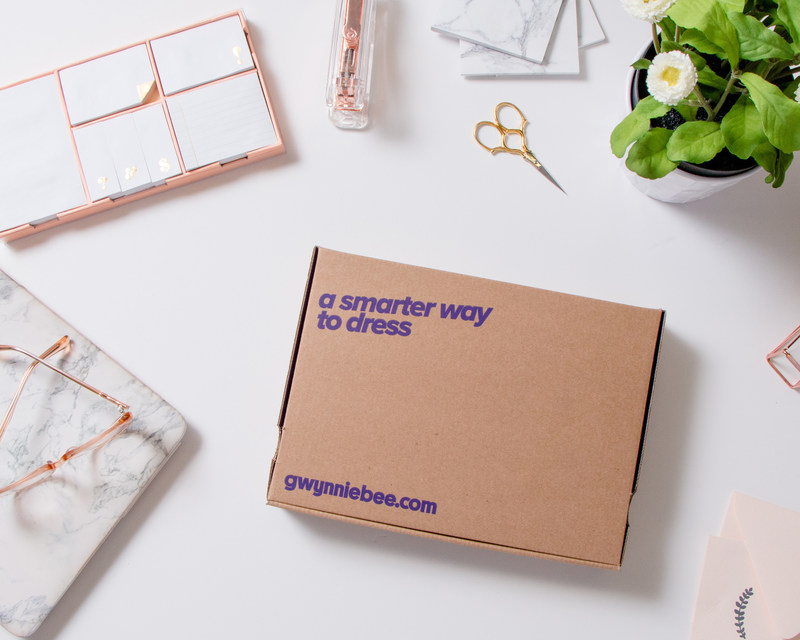 Gwynnie Bee monthly subscription box.