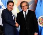 Honduran President Thanks OAS for Supporting Honduran Democracy