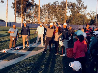 Team Rickie Fowler wins the sticky suit competition finale as part of the 8th annual Farmers Insurance and Rickie Fowler Youth Golf Event at the 2018 Farmers Insurance Open