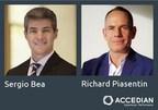 Sergio Bea et Richard Piasentin rejoignent l'équipe de direction d'Accedian pour développer de nouveaux marchés. (Groupe CNW/Accedian Networks Inc.)