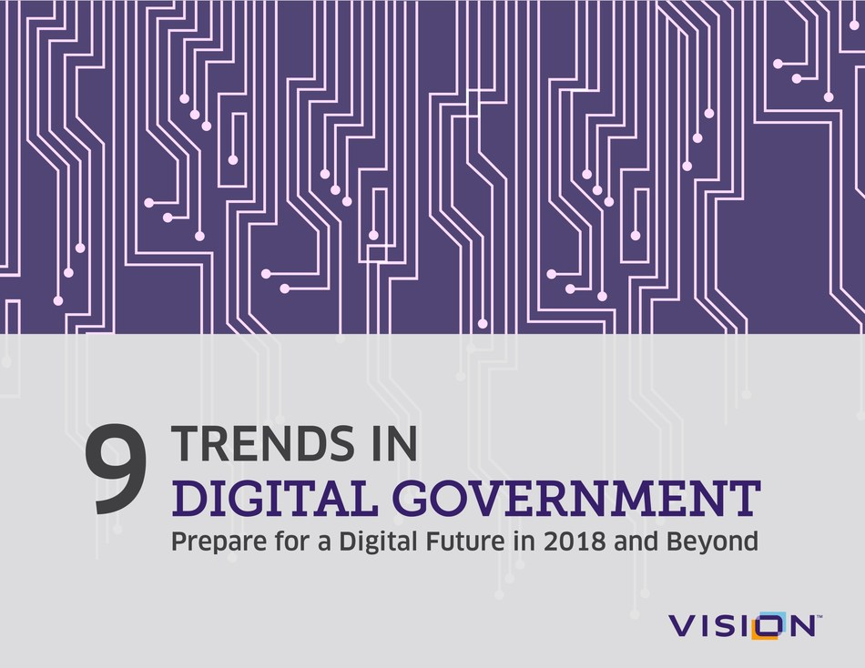 A new eBook from the government website experts at Vision looks ahead at the trends that will shape digital government in 2018 and offers tips to help local agencies deliver online services.