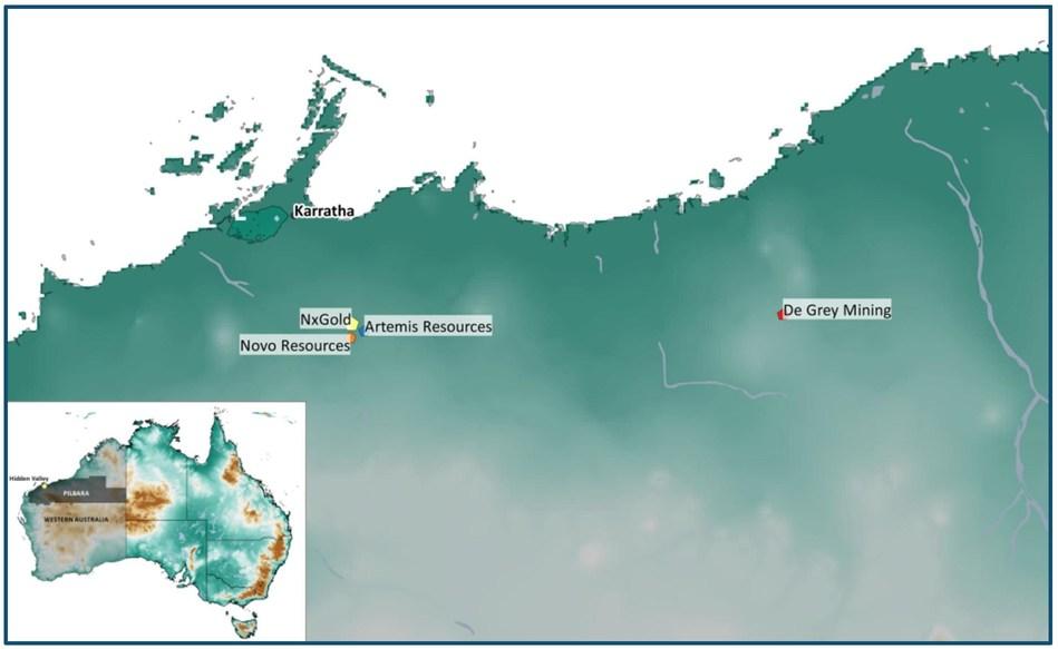 Figure 1: Mt. Roe Project Location Map (CNW Group/NxGold Ltd.)