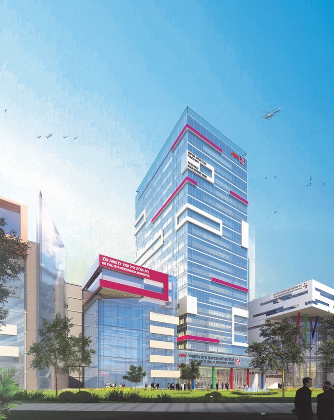 Architect rendering of the new Helmsley Health Discovery Tower.  Photo Credit: Mochly Eldar Architects