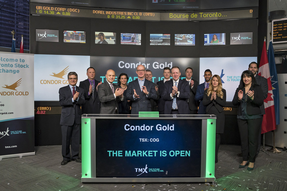Condor Gold plc Opens the Market (CNW Group/TMX Group Limited)