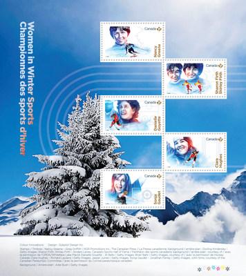 Championnes canadiennes des sports d'hiver (Groupe CNW/Postes Canada)