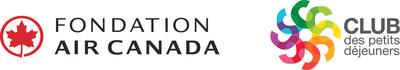 Logo : Fondation Air Canada; Club des petits déjeuners (Groupe CNW/Club des petits déjeuners du Canada)