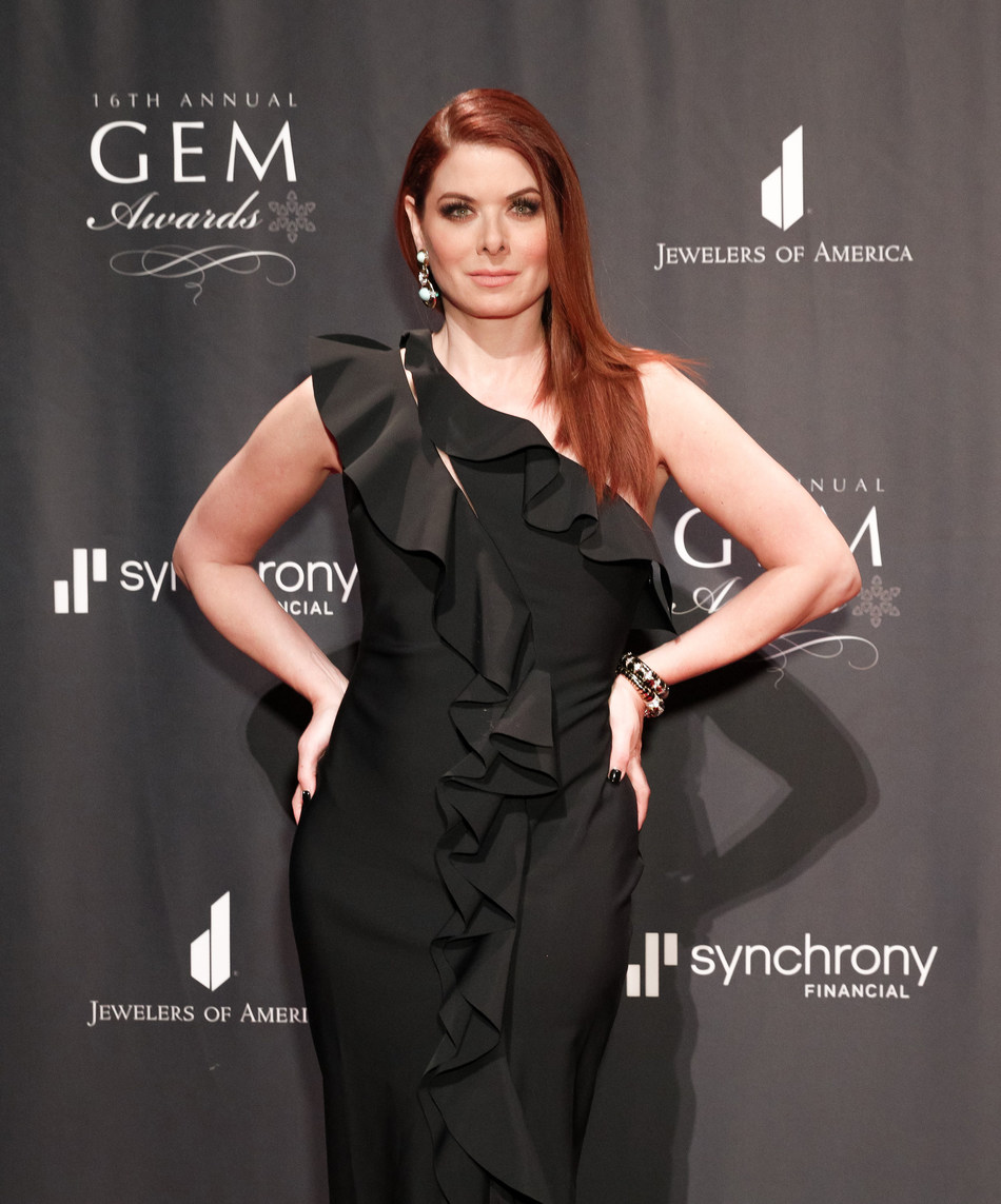 Debra Messing received the GEM Award for Jewelry Style at Jewelers of America's 16th Annual GEM Awards. (Matteo Prandoni/BFA)