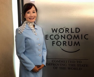 Jane Sun, CEO of Ctrip at the World Economic Forum in Davos, Switzerland