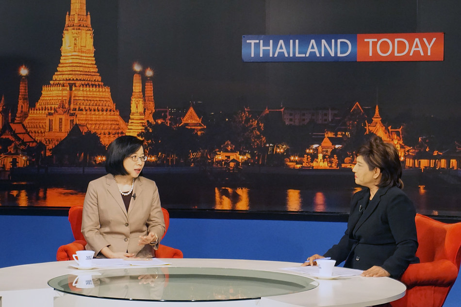 Thailand Board of Investment Secretary General detailed SMART Visa benefits in an interview with National Broadcasting Services of Thailand (NBT World) (PRNewsfoto/Thailand Board of Investment)
