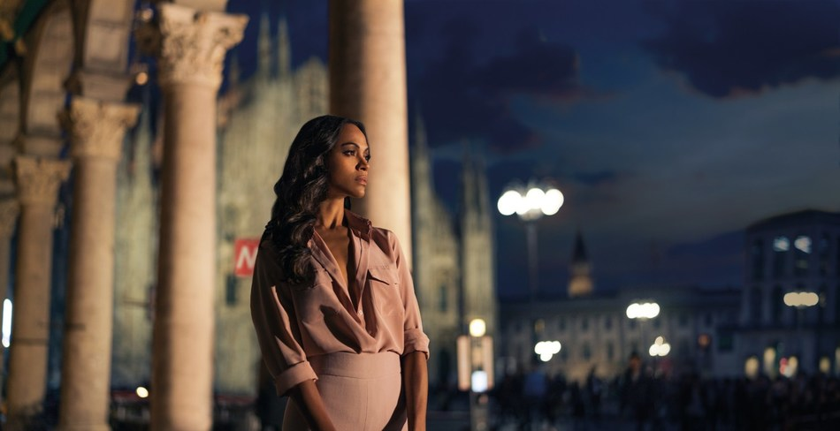 Zoe Saldana in the Campari Red Diaries short movie, The Legend of Red Hand, shot by Matteo Bottin (PRNewsfoto/Campari)