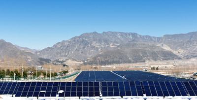 Primeira usina de energia fotovoltaica de 5 MW da China com módulos de células em telhas -- Projeto Zhaiheyuan (PRNewsfoto/Jiangsu Seraphim Solar System C)
