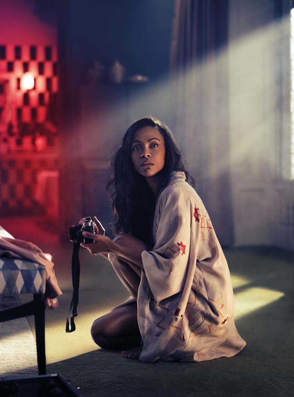 Zoe Saldana plays Mia Parc in the Campari Red Diaries short movie, The Legend of Red Hand shot by Matteo Bottin (PRNewsfoto/Campari)
