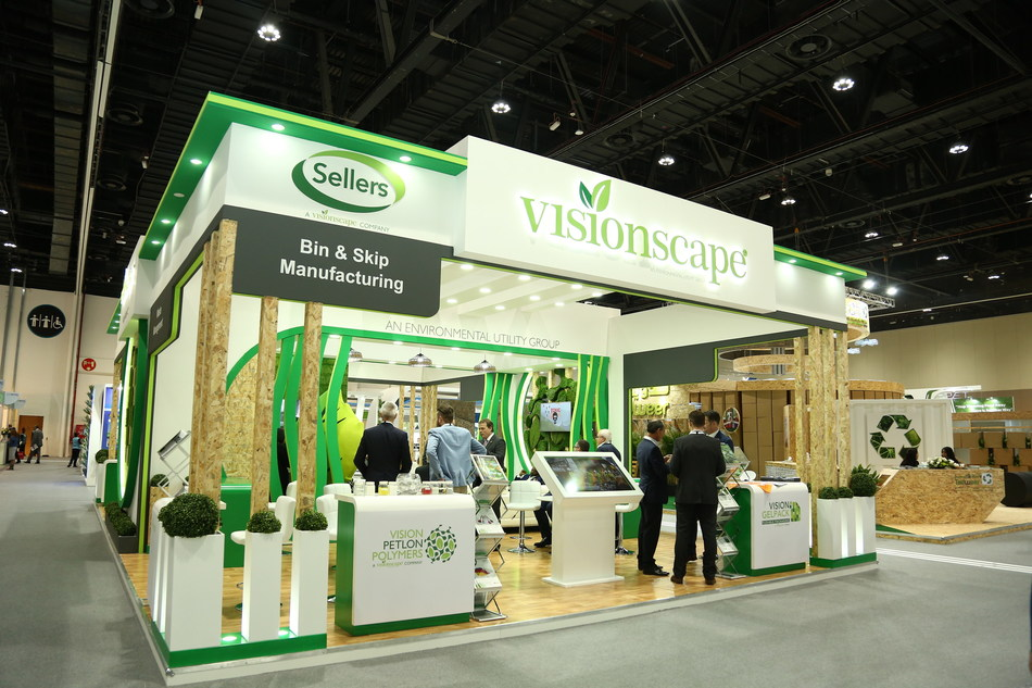 Visionscape at Abu Dhabi's Largest Sustainability Exhibition, EcoWASTE (PRNewsfoto/Visionscape)