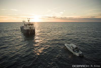 El M/V OCEARCH es un buque de investigación de 126 pies, actualmente en su primera expedición de 2018