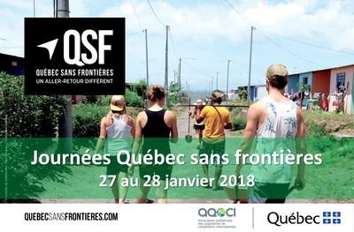 Journées Québec sans frontières 2018 (Groupe CNW/Cabinet de la ministre des Relations internationales et de la Francophonie)