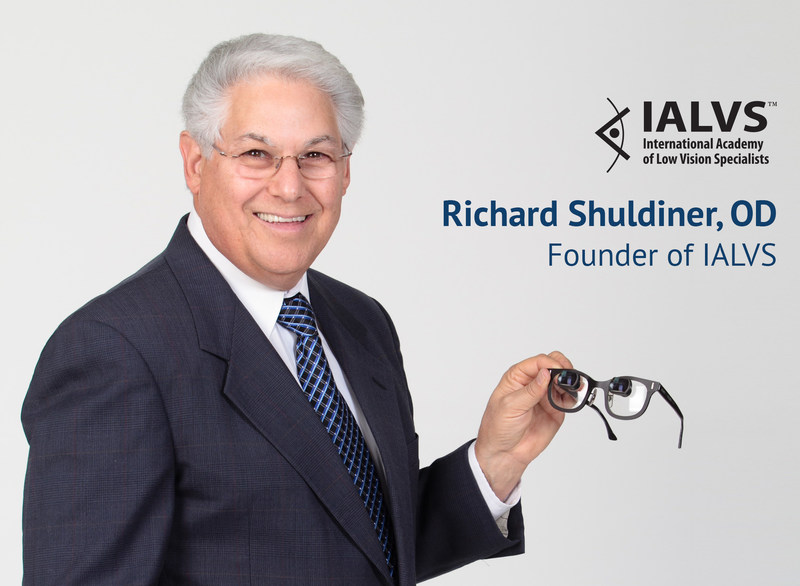 Richard Shuldiner, Founder International Academy of Low Vision Specialists - 40 years of Helping People With Vision Loss. For More Information visit www.LowVisionDoctors.com