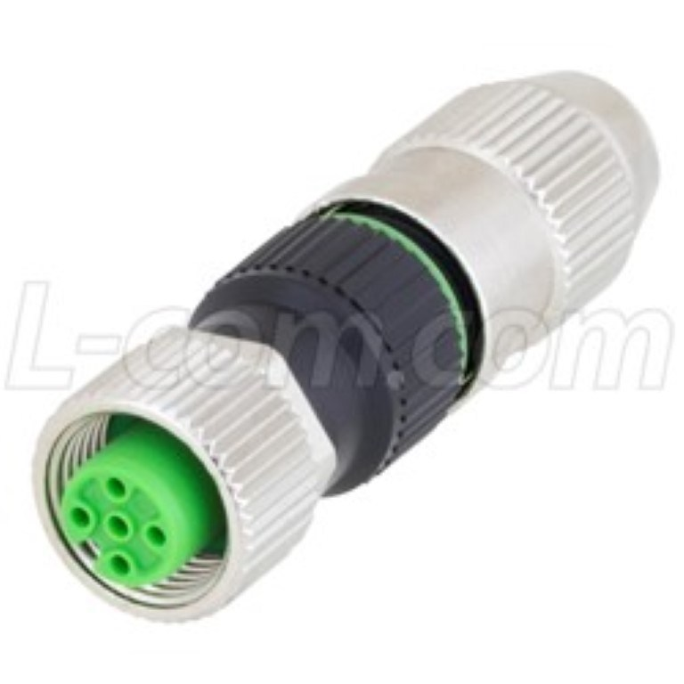 M12 4-Position A-Code Field Termination Connector