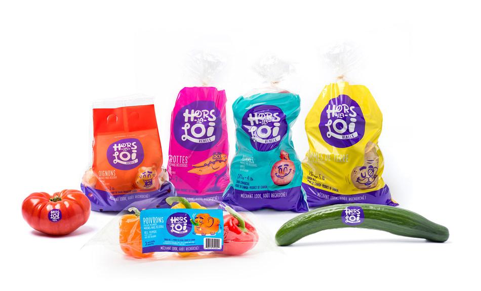 La gamme de fruits et légumes Hors-La-Loi. (Groupe CNW/Hors-La-Loi)