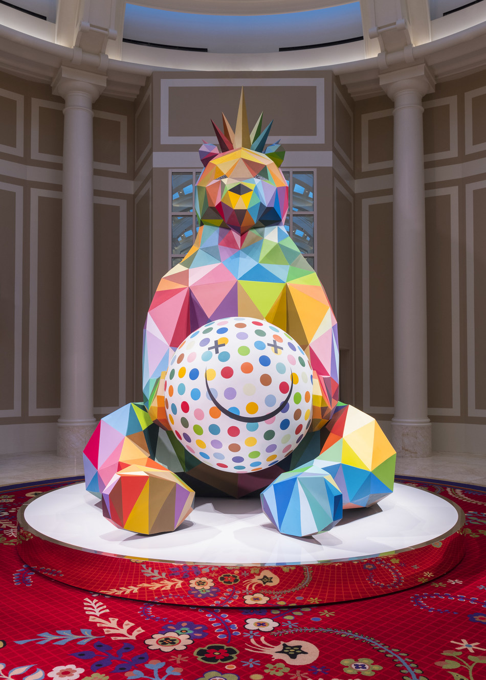 Wynn Resorts adds a new level of modern vigor to its world-class art collection with the acquisition of Smiling King Bear, a pop-surreal sculpture created by the famed Spanish contemporary artist Okuda San Miguel. Photo Credit: Jeff Green.