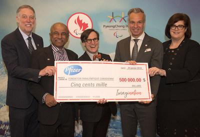 Bon départ de Canadian Tire et Pfizer Canada se sont tous deux engagés comme principaux partenaires de la campagne d'ImagiNation jeudi, contribuant au développement du parasport au Canada. (Groupe CNW/Canadian Paralympic Committee (Sponsorships))