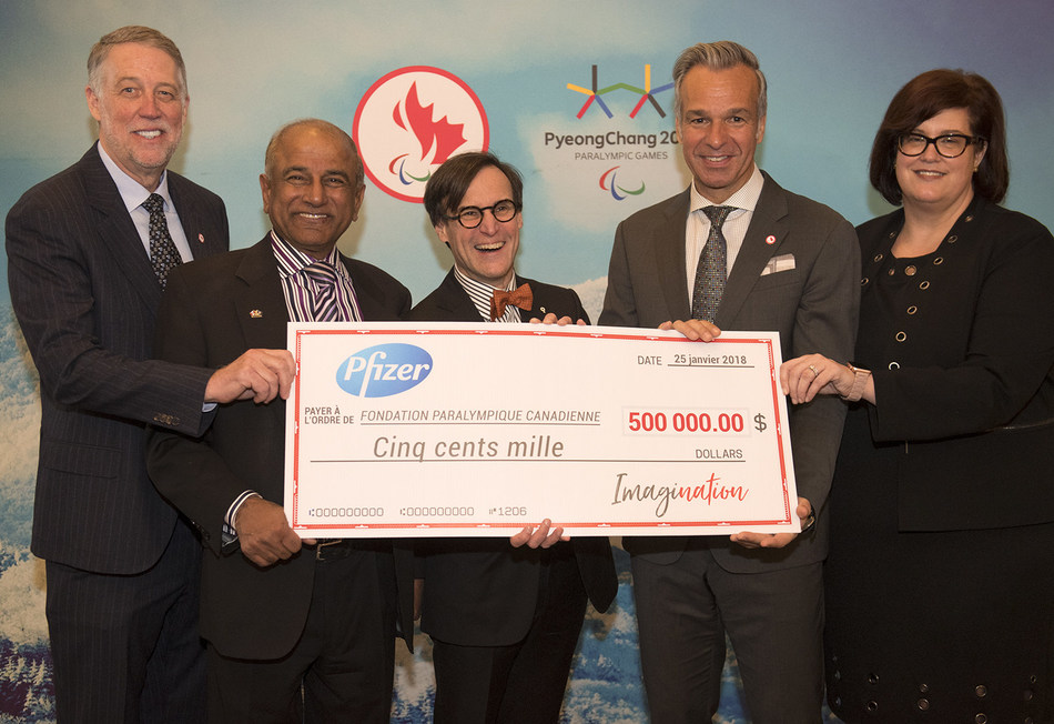 Canadian Tire Jumpstart Charities and Pfizer Canada were announced as the two lead campaign partners of the ImagiNation campaign on Thursday, contributing to the development of parasport in Canada. (CNW Group/Canadian Paralympic Committee (Sponsorships))