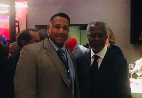 Asa St. Clair meets Kofi Annan