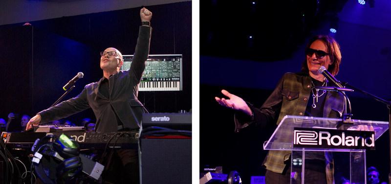 Roland Lifetime Achievement Award Winner Thomas Dolby and BOSS Lifetime Achievement Award Winner Steve Vai