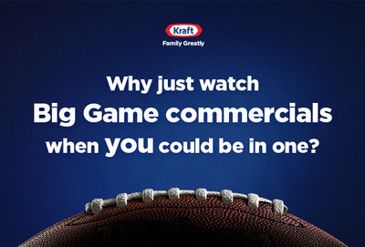 Why just watch Big Game commercials when you could be in one?
