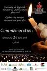 Commémoration du massacre à la mosquée de Québec - 28 janvier 2018 (Groupe CNW/Forum Musulman Canadien)