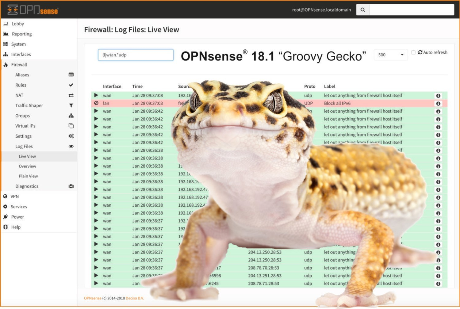 OPNsense® 18 1 'Groovy Gecko' 500 times improved