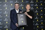Ricardo Guadalupe and Martin Gore launch the Big Bang Depeche Mode The Singles Limited Edition presented in a Rimowa suitcase (PRNewsfoto/Hublot)