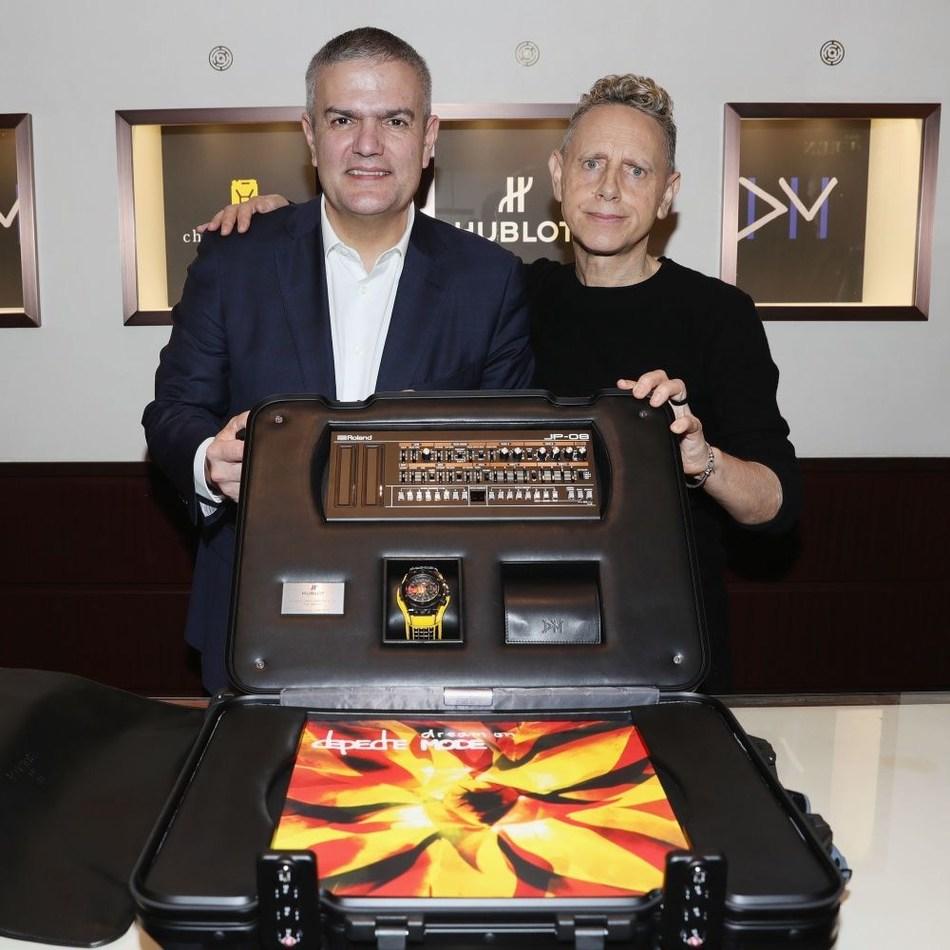 Ricardo Guadalupe and Martin Gore present the Big Bang Depeche Mode The Singles Limited Edition Set (PRNewsfoto/Hublot)