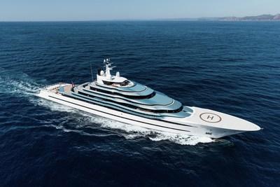 Oceanco's 110m Lobanov-Designed Motoryacht Jubilee and 88.5m Sorgiovanni-Designed Motoryacht Barbara win prestigious design award. On this photo, the Jubilee. (PRNewsfoto/Oceanco)