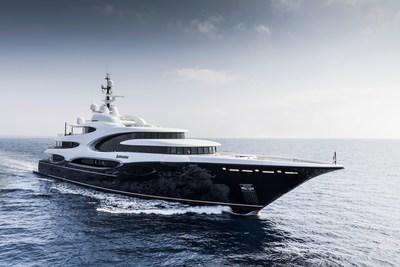 Oceanco's 110m Lobanov-Designed Motoryacht Jubilee and 88.5m Sorgiovanni-Designed Motoryacht Barbara win prestigious design award. On this photo, the Barbara. (PRNewsfoto/Oceanco)