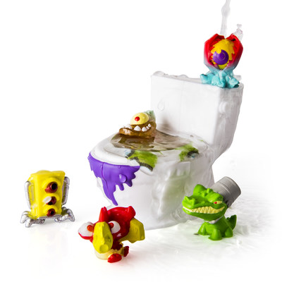 Flush Force creatures come from deep inside the bowels of Flushville and have been mutated by toxic sludge. (CNW Group/Spin Master)