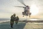 L'Asterix complète les essais en mer de la Marine royale canadienne et atteint sa capacité opérationnelle totale (FOC) (Groupe CNW/Chantier Davie Canada Inc.)