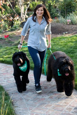 Hilary Schneider, CEO of Wag!, with her two Black Russian Terriers, Sadie & Zoe