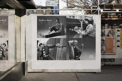 """McDonald's Canada celebrates the return of Big Mac® Bacon for a limited time with street-style inspired """"teaser"""" ads across the country, kicking off a year-long celebration of the Big Mac's 50th anniversary. (CNW Group/McDonald's Canada)"""