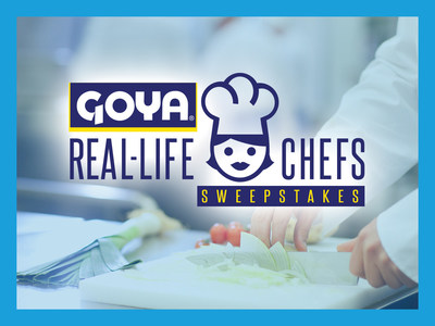 Goya Foods launches its Real-Life Chefs Sweepstakes for a chance to win a five-day chef boot camp experience at The Culinary Institute of America (CIA) in Napa Valley, California.