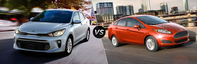 The Ford Fiesta's engine and cabin simply can't compete with the 2018 Kia Rio's.