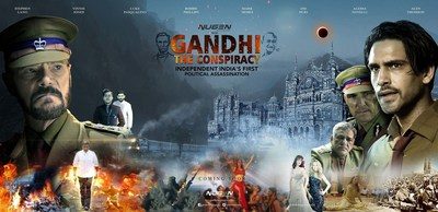 Poster of the film displaying the tumultuous time of a violent India at the backdrop of a non-violent Gandhi. Stephen Lang and Luke Pasqualino play two honest police officers, who faced with the information that Gandhi's life might be at a risk, must take key decisions to save The Mahatma, or the Country. Set in 1948, the movie promises to delve into facts that eventually led to the assassination of the epitome of non-violence, Mohandas Karamchand Gandhi, loving called Mahatma Gandhi by Indians.