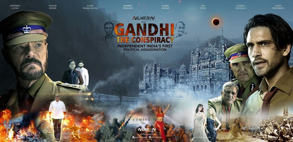 Poster of the film displaying the tumultuous time of a violent India at the backdrop of a non-violent Gandhi. Stephen Lang and Luke Pasqualino play two honest police officers, who faced with the information that Gandhi's life might be at a risk, must take key decisions to save The Mahatma, or the Country. Set in 1948, the movie promises to delve into facts that eventually led to the assassination of the epitome of non-violence, Mohandas Karamchand Gandhi, loving called Mahatma Gandhi by...