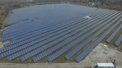Nikopol Solar Power Plant as seen from the drone (CNW Group/TIU Canada)
