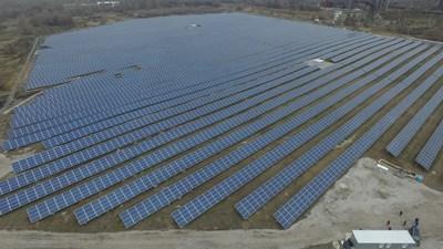 Nikopol Solar Power Plant as seen from the drone (CNW Group/TIU Canada)