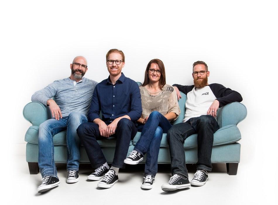 Liingo Founders - Brandon Adams, Douglas Harris, Amy Larson and Peder Singleton