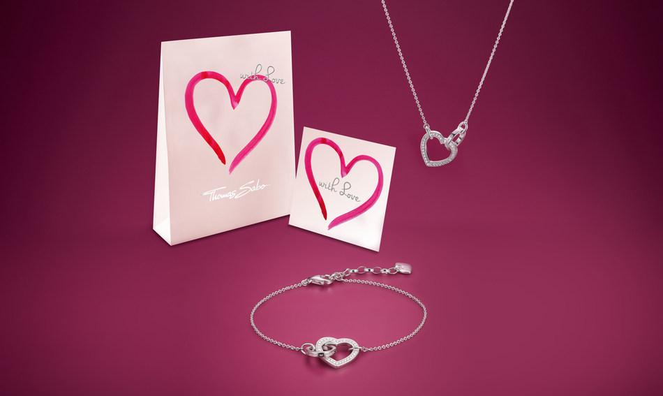 THOMAS SABO celebrates Valentine´s Day 2018 and releases lovely new heart designs. (PRNewsfoto/THOMAS SABO GmbH & Co. KG)