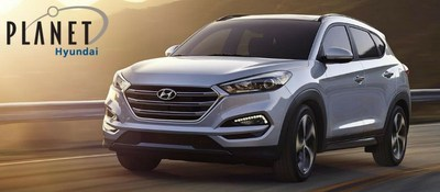 Schedule a test drive of the 2018 Hyundai Tucson at Planet Hyundai, located at 15601 W. Colfax Ave in Golden, CO.