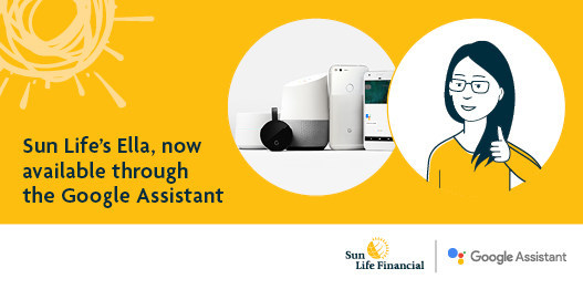 Sun Life's Ella, now available through the Google Assistant (CNW Group/Sun Life Financial Canada)