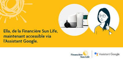 Ella, de la Financière Sun Life, maintenant accessible via l'Assistant Google. (Groupe CNW/Financière Sun Life Canada)